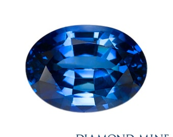 A Beautiful NaturalSapphire 1.1 Blue Oval Extra