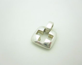 Tiffany & Co. Sterling Silver Stencil Cross Charm Or Pendant