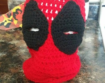 Crochet Deadpool Ski Mask