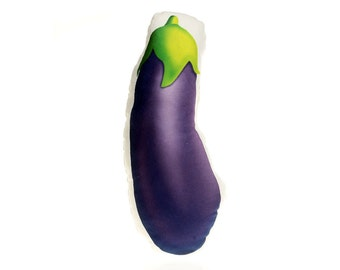 Aubergine Eggplant Veggies Pillow Gift for Addicts Lovers What to Buy Sugggestion
