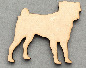 Dog Shaped Laser Cut 3mm MDF Shapes - Any Breed Available