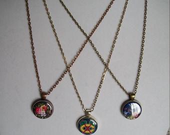 Necklace 24 inch chain silver bronze copper