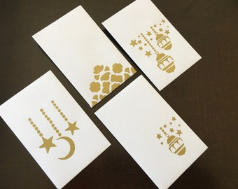 gift card holders / mini envelopes / eidi envelopes (set of 12)