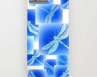 iphone case,  phone case,  phone cover, iphone 6 phone cover,  dragonfly phone case, blue phone case,  5s case, 4S cover, ipod cover,