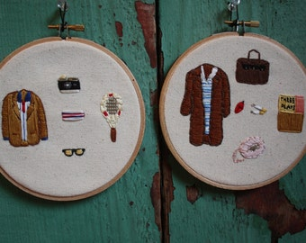 The Royal Tenenbaums Margot & Richie Embroidery Set
