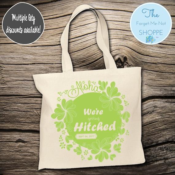 Aloha Beach Anchor Canvas Tote Bags, Bachelorette Totes, Nautical Bachelorette, Wedding Favor Bags, Tropical, Married, Gifts, Favors, Hawaii
