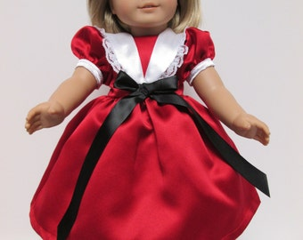 """American Girl Christmas Dress, 18"""" Doll Clothes"""