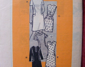 """1960's Misses' One Piece Dress Size 16 bust 38"""" Vintage Mail Order Sewing Pattern 9153"""