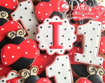 Ladybug Lady Bug First Birthday Cookies