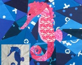 Small Seahorse- A 14 Inch Foundation Paper Pieced Pattern