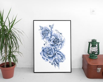 BLOSSOM- drawing art print