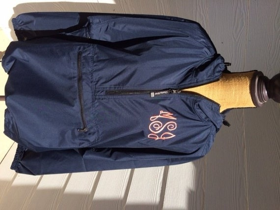 Monogrammed Rain Jacket-Pullover-Charles River-Monogram