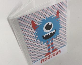 Boy Photo album,  Monster, Grandmas Brag Book, Personalized Baby Shower Gift baby album 4x6 or 5x7 picture 567