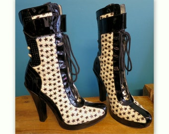 Boots FREE LANCE nail heel and setting of stars, size 37