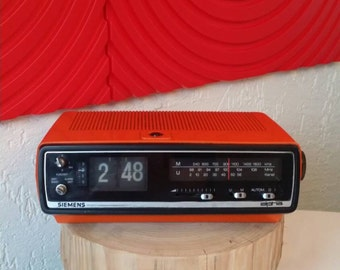 Siemens original flip clock / radio / alarm clock  ##SALE##
