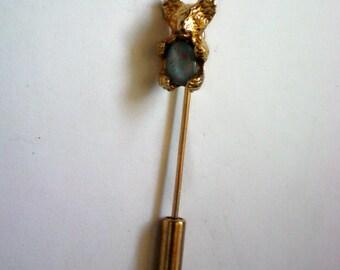 Tiny Teddy Bear Opal Stick / Lapel Pin - 4660
