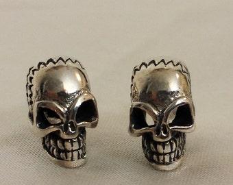 Sterling Silver Stud Skull earrings