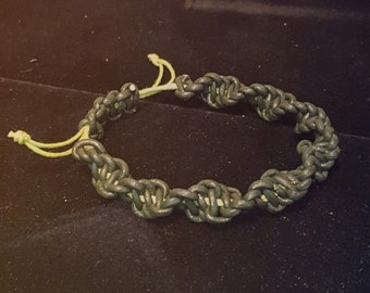 Macrame Bracelet - Twisty Turning Leather Macrame Bracelet - Leather Jewelry - Gift Idea - Handmade Jewelry - One Of A Kind - Macrame