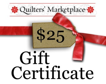 Gift Certificate - Twenty Five Dollars