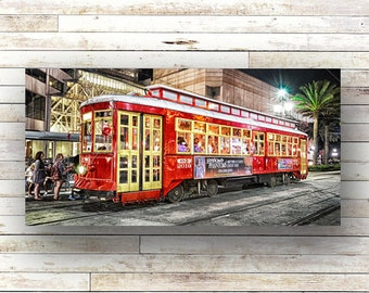 CANAL STREETCAR - New Orleans art - French Quarer - Architecture - Canal Street - Transportation