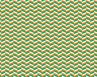 Orange, green and white craft  vinyl sheet - HTV or Adhesive Vinyl -  chevron herringbone zig zag pattern HTV3204