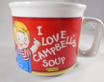 "Campbell's soup mug ""I Love Campbell's Soup"""