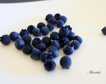 Faux Blueberry Fruit Fake Food Dessert Fake Blueberry Kitchen Decor Blueberry 30