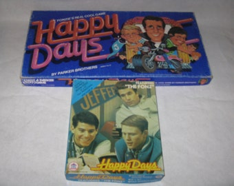 Vintage Happy Days board game and jigsaw puzzle
