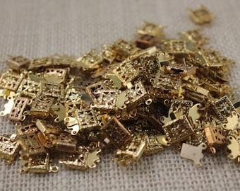 Gold 2 Strand Box Clasp (10 Pieces)