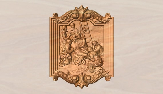 Stations of the cross wood carving catholic