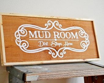 Mud Room Sign, Rustic Decor, Mudroom Sign, Country Mudroom, Cowgirl Gift,Wooden Sign, Wood Sign, Made in the USA, American Made
