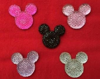 Set of 5 Large Mickey Flat Back Resin