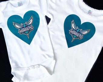 Charlotte Hornets  shirt - Hornets onesie - baby Charlotte hornets shirt- Charlotte girls shirt - charlotte hornets baby