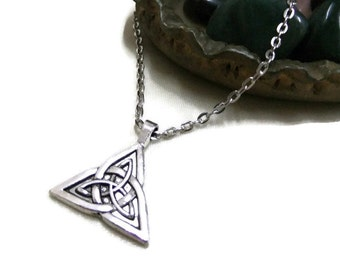 Celtic Knot Triquetra Necklace, Celtic Trinity Necklace, Celtic Knot Necklace, Silver Celtic Necklace, Trinity Knot Necklace, Trinity Symbol