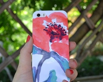 Watercolor Phone Case Floral iPhone 7 Samsung Galaxy s7 Case Coral Floral iPhone 6 Case iPhone SE Case iPhone 7plus Samsung Galaxy S7  cover