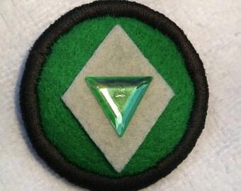 Steven Universe Crystal Gem Peridot Pin Badge