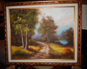 ORIGINAL LANDSCAPE PAINTING Signed Halg