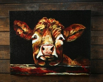 Brown Cow Canvas