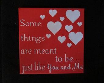 Custom Made Valentine / Love Canvas