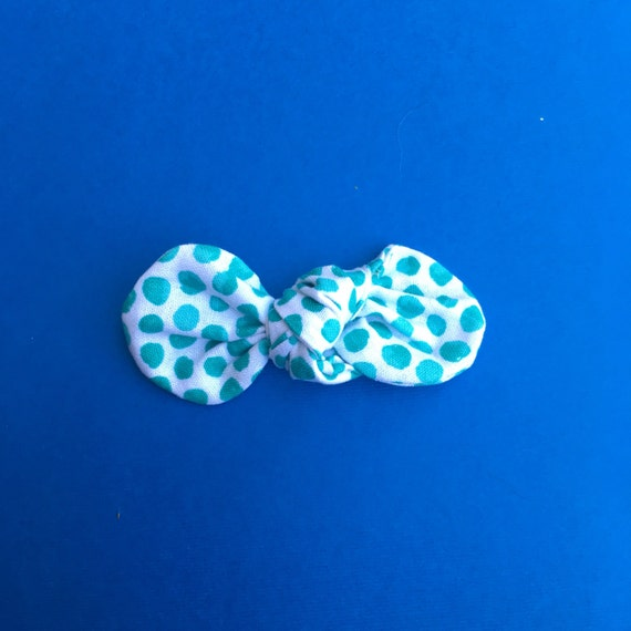 Aqua Dot  Baby Hair Bow Headband : Baby Hair Clip Bow, Simple Bow on Nylon Elastic Infant and Toddlers Girls Headband