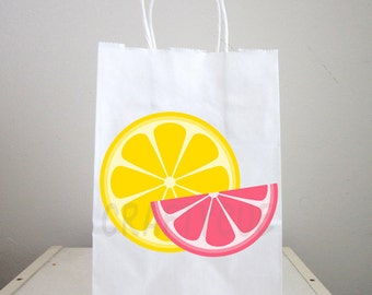 Lemonade Goody Bags, Lemon Slices Goody Bags, Lemonade Birthday Party