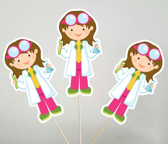 Science Girl Centerpieces Mad Scientist Girl Centerpieces