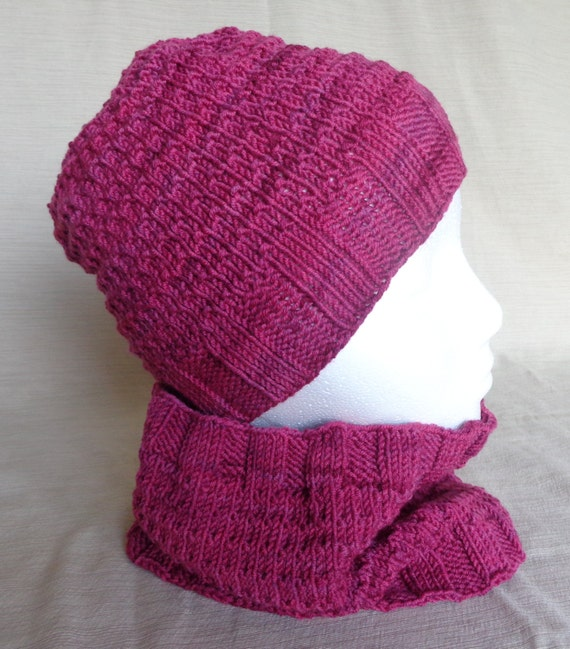 Knit Hat and Cowl Gift Set - Adult - READY TO SHIP