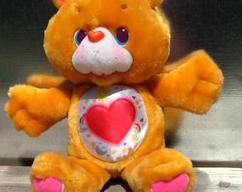 1991 Kenner CARE BEARS Plush Tenderheart Bear