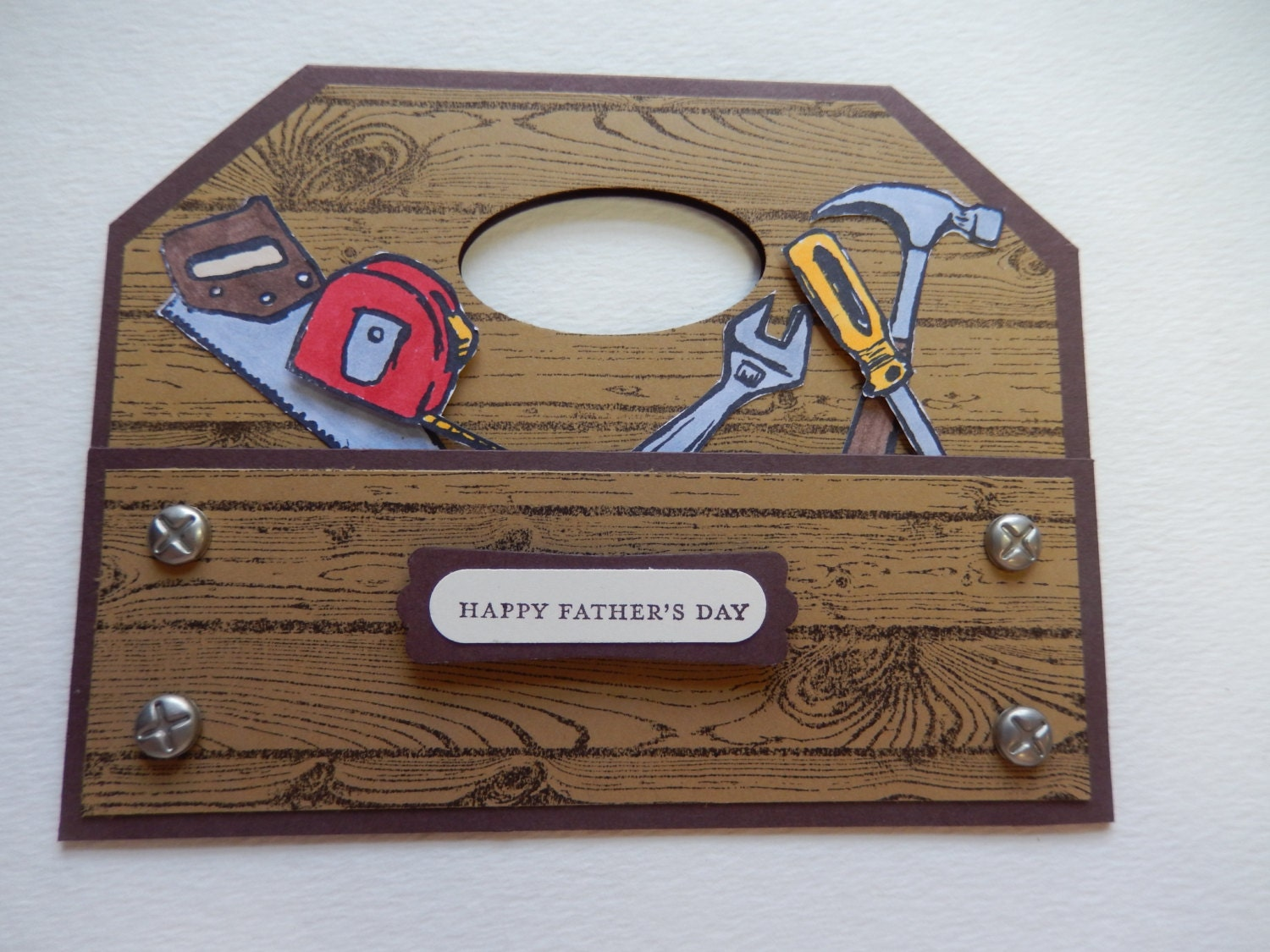 Wooden Toolbox Father's Day Card