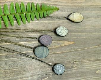 Beach stone pendant necklace