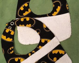 Batman Bib Set Reversible