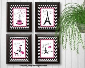 Paris Decor Baby Girl Nursery Decor, Art Print, Girls Room Decor, Kids Wall Art Printable Bedroom Art Little Girl Quotes, Teen Room Decor