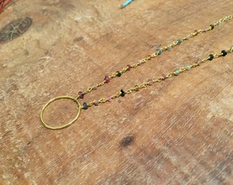 Tourmaline necklace ring