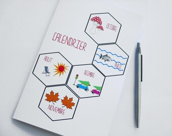 Perpetual calendar / notebook